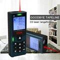 D3 лазерный дальномер DTAPE измеритель расстояния 40 м/60 м/80 м/100 м Рулетка измерение лазерного расстояния инструмент для регулировки громкости ...