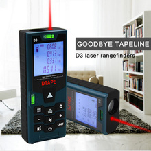 D3 Laser Range Finder DTAPE Distance Meter 40M/60M/80M/100M Tape Ruler Measure Volume Tool Auto Power Off