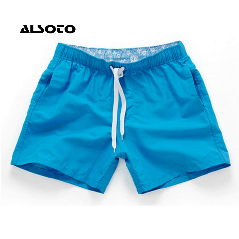 Board Shorts Men Summer Casual Solid Mid Beach Shorts Fashion Printed Waist Shorts Man Straight Drawstring Shorts S-XXL Hot Sale