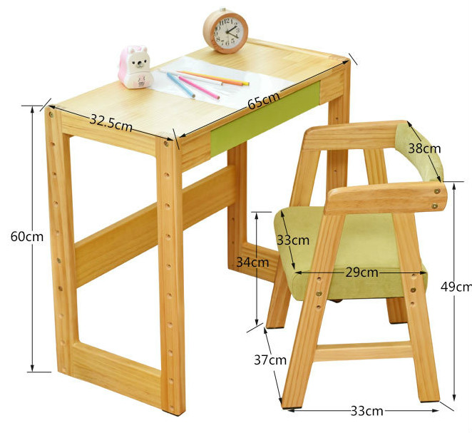 Tremendous Us 395 4 40 Off High Quality Student Desk Chair Set The Height Adjustable Children Learning Table Solid Wood Furniture Set Multicolor Optional In Cjindustries Chair Design For Home Cjindustriesco