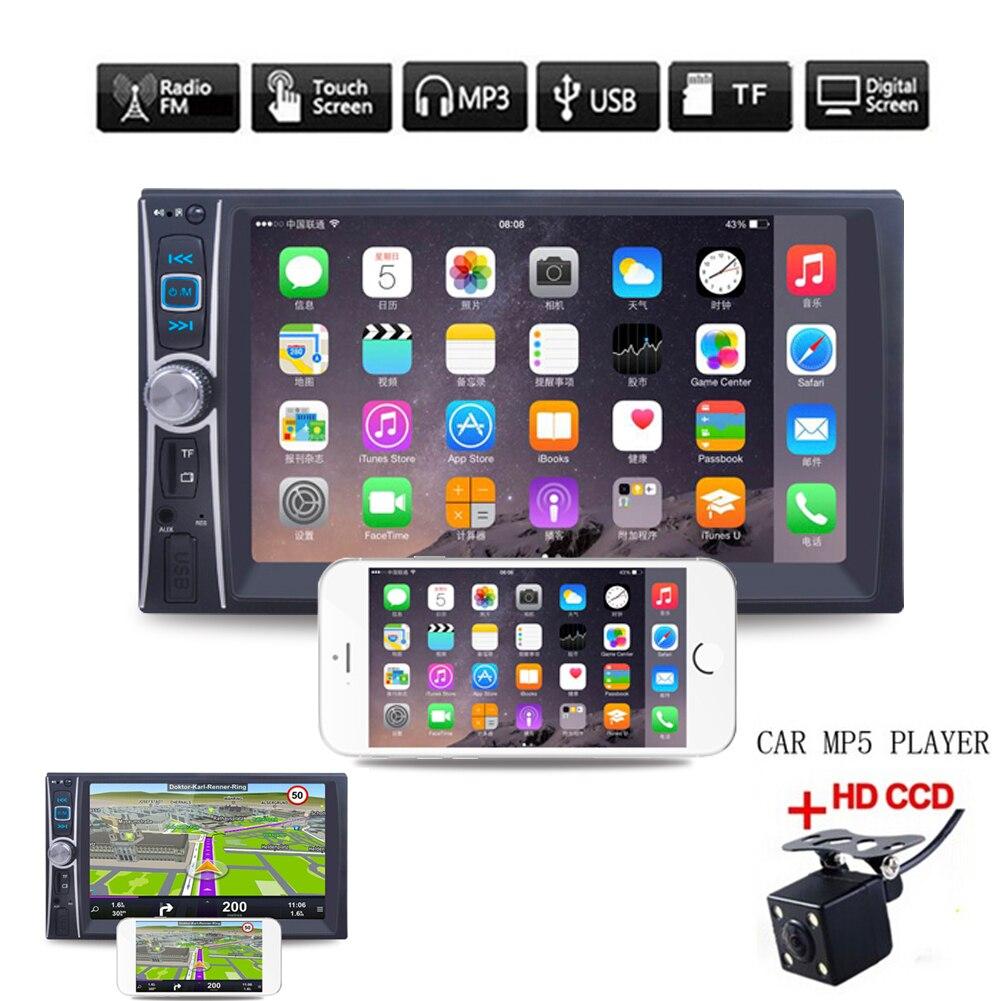 6.6'' HD 2 Din Car Radio MP5 Player Touch Screen Bluetooth Phone Link Smart Phone Stereo Radio Player MP3/MP4/Audio/Video/USB домашний кинотеатр link 2015 bt4809 2 1 bluetooth 4 0