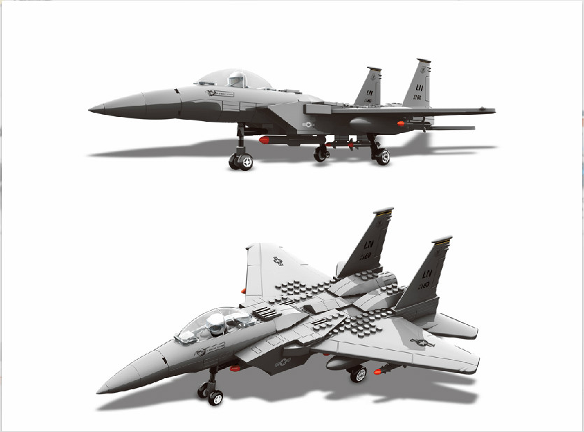 Military Toy Fighter Modern Warfare F-15 Eagle Fighter Shipboard Fighter 1:48 Model Building Block Sets Compatible With Legoe худи print bar modern warfare
