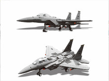 Military font b Toy b font Fighter Modern Warfare F 15 Eagle Fighter Shipboard Fighter 1