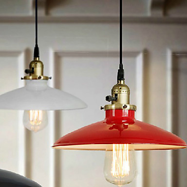 Rustic Red Metal American Style Edison Loft Vintage Industrial Pendant Lights Lamp,Lustres De Sala Luminaire broadlink mp1 wifi power strip socket 4 outlet extension socket plug with eu us uk au adapter app remote control for smart home