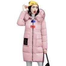 Luxury Soft Fur Collar Hooded Women Coat 2017 Winter Warm Cotton Woman Long Coat Fashion maxi long Female Jacket Outwear 4L21