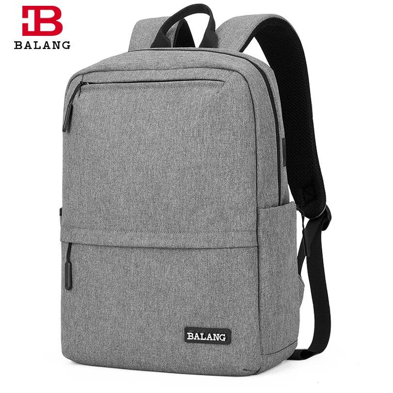 BALANG Business sac à dos 15.6 pouces sacoche pour ordinateur portable hommes sac à dos fonctionnel avec Port de chargement USB sacs à dos sacs de voyage homme