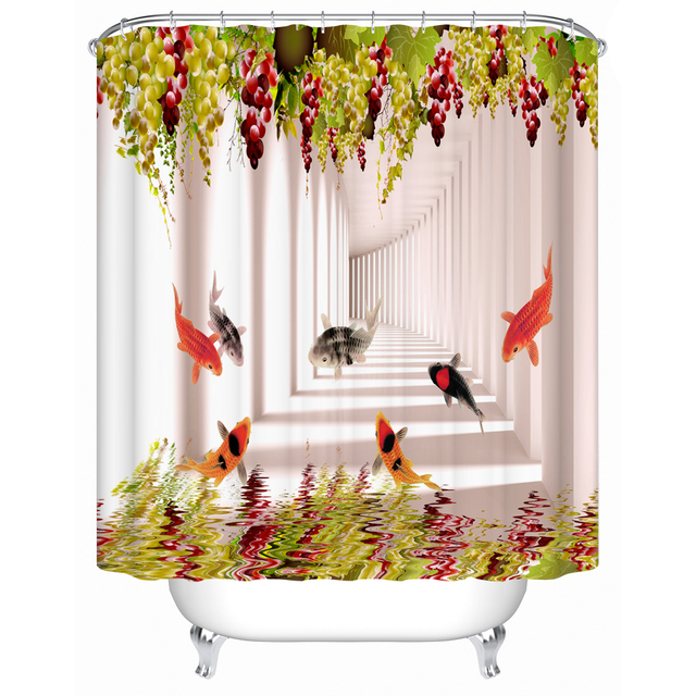 Grapes And Fis Shower Curtains Eco Friendly Bathroom Products High Quality  Waterproof Shower Curtains Bathroom