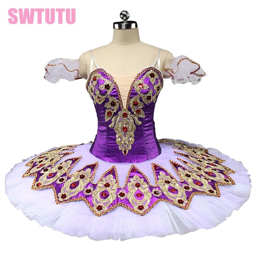 Purple Classic Ballet Costume Tutu Dance Professional Ballet Tutu Costumes Platter Competition Ballerina Tutus BT9132