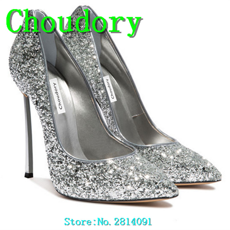 Choudory New Extreme Sexy High Heels Platform Pumps Pointed Toe Women Heels Shoes Shallow Slip-On High Quality Dress Shoes Women
