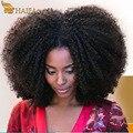 8a virgen Mongol afro rizado pelo rizado 3 Unids/lote, barato productos para el cabello rosa afro rizado cabello humano rizado manojos de cabello virgen