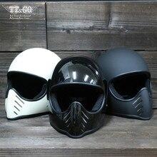 TT CO Thompson casco de Moto de cara completa, casco clásico, Retro, Chopper Ghost Rider