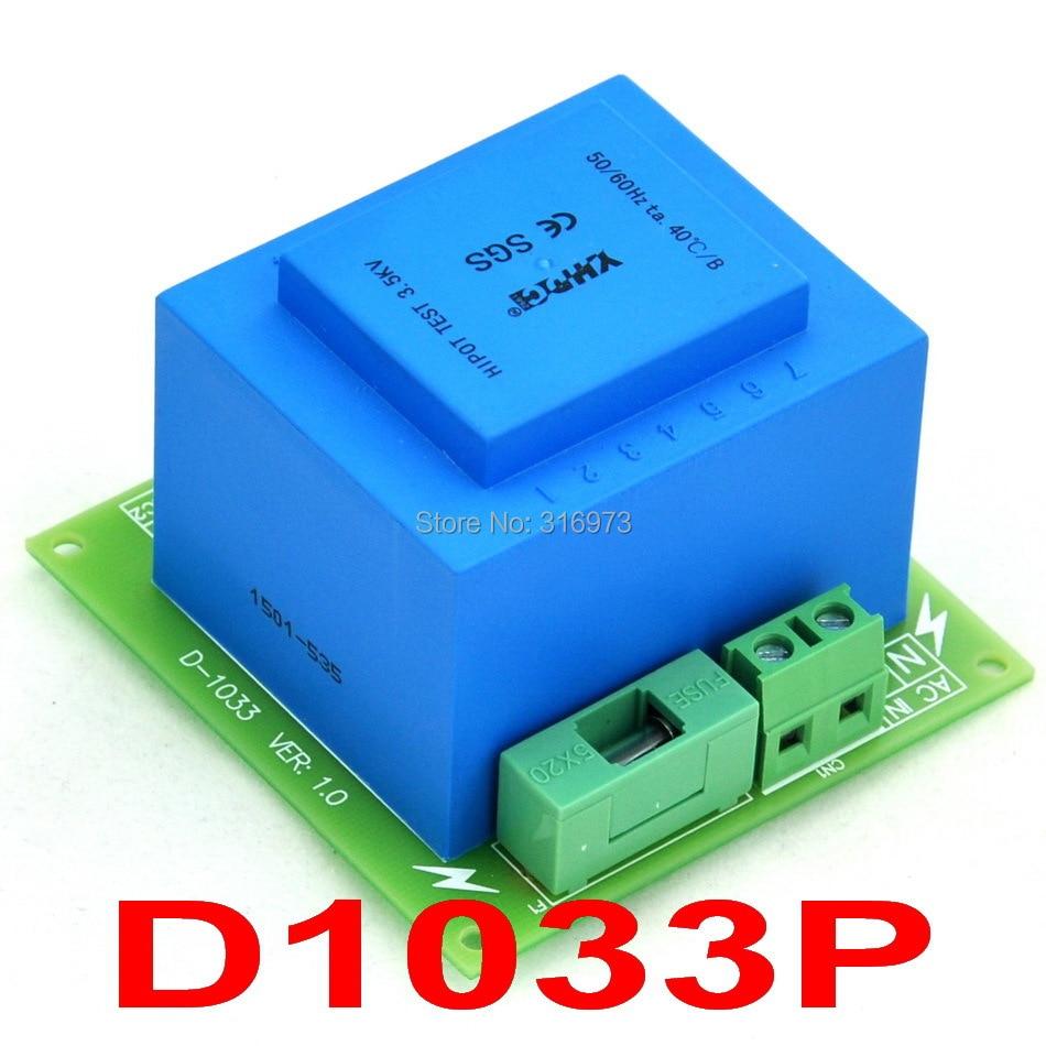 Primary 230VAC, Secondary 15VAC, 20VA Power Transformer Module, D-1033/P, AC15V
