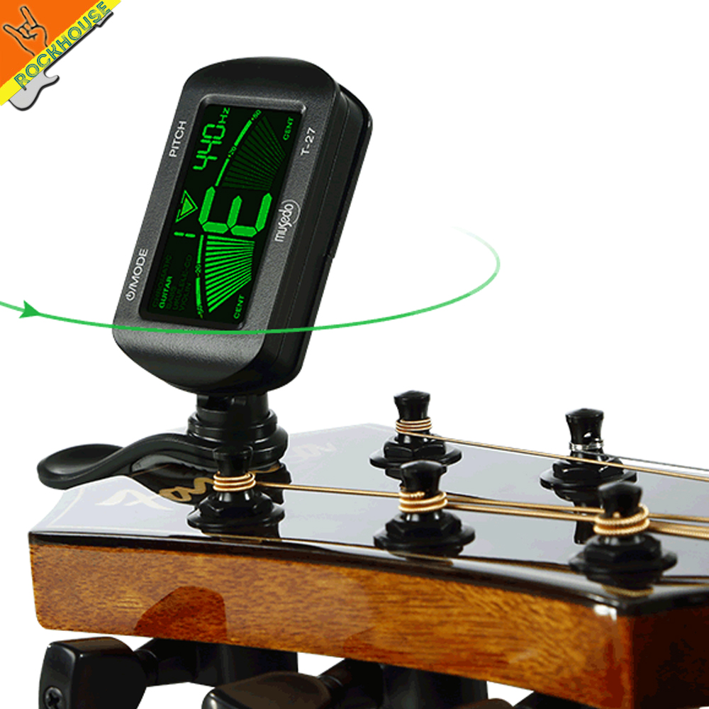 Musedo Clip-on Tuner Guitar Bass Violin Ukuele Mandolin Tunning 360Degree Rotatable LCD screen high sensitivity Free Shipping captain corelli s mandolin