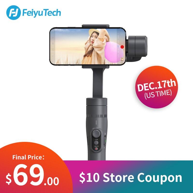 FeiyuTech Vimble 2 Feiyu 3-eje de Smartphone del cardán estabilizador con 183mm Polo trípode para iPhone X 8 7 Samsung XIAOMI