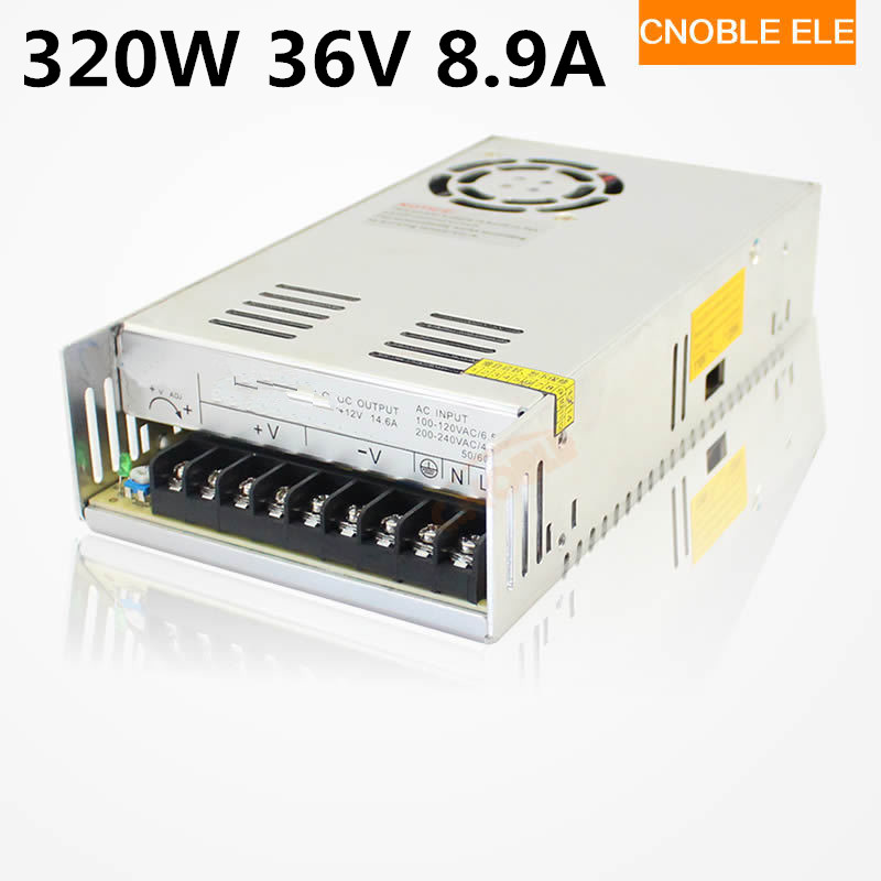 320W 36V 8.9A Single Output Switching power supply for LED Strip light AC to DC 110V 200V selected by switch 350w 12v 30a single output switching power supply for led strip light ac to dc