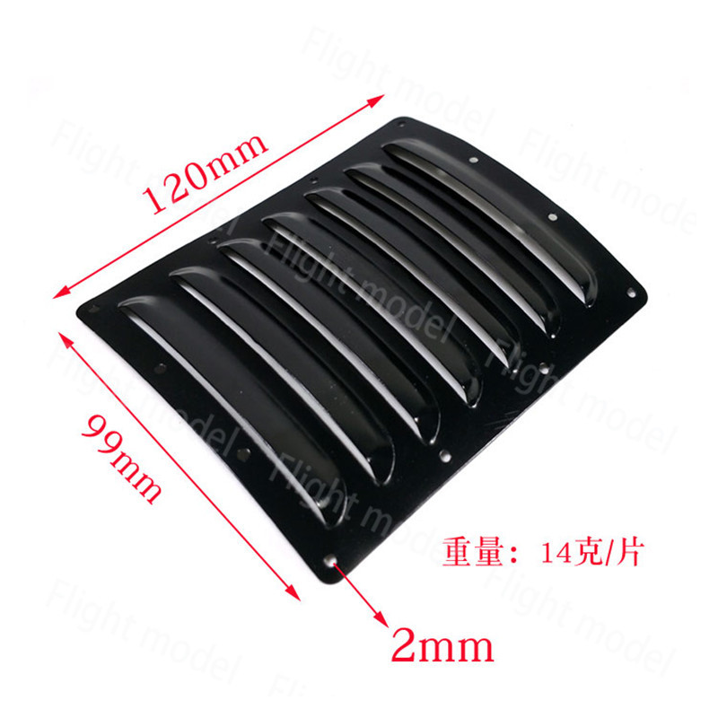 2pcs/Set Aluminum Cooling Fin 120x100x0.5mm Black For Aircraft RC Airplane Cowl image