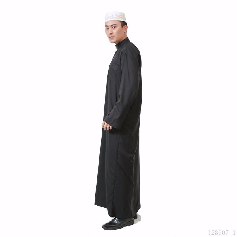 4f15bcfaff1 ... Traditional Islamic Clothing Casual Men Cotton Jubba Thobe Dubai Abaya  Muslim Arabian Prayer Robes Eid Costume ...