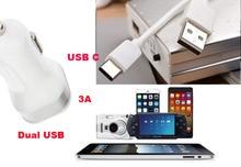 2A 1A Dual USB Сотовый Телефон Автомобильное Зарядное Устройство Зажигалка + Тип C USB Кабель для передачи данных Для Huawei nova plus, Honor 8 Pro, Gionee S6s, LeEco Le Pro3