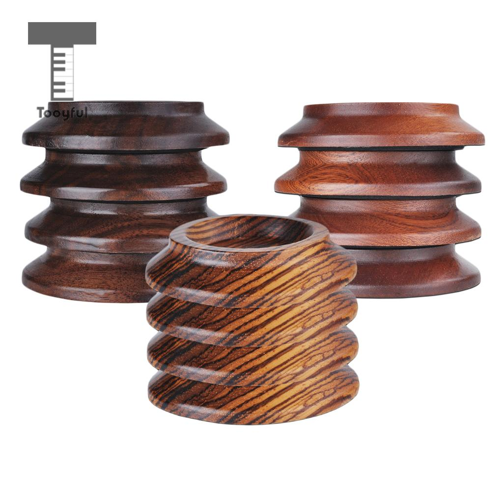 4 Pieces Solid Wood Piano Caster Cups Furniture Round Wheel Cups For Upright Grand Pianos