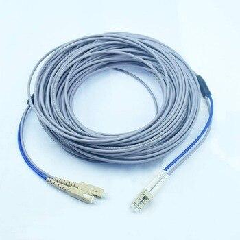 Cable de fibra óptica dúplex multimodo blindado de 200 metros (62,5/125)-LC a SC