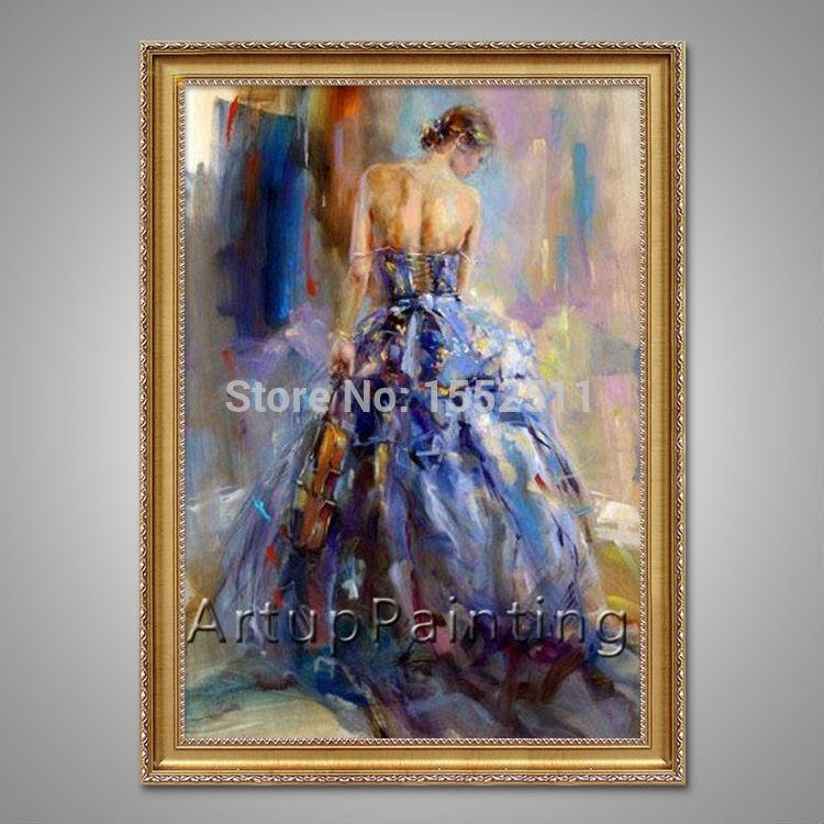 Spanish Flamenco Dancer painting latina woman Oil painting