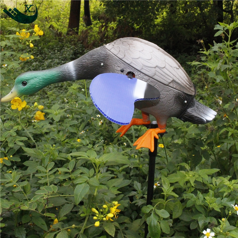 ФОТО Xilei Wholesale Quality Greenhead Decoys Dc 6V Plastic Duck Decoys Motorized Decoys For Duck Hunting With Spinning Magnet Wings