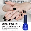 Candy Lover Nail Gel Polish French manicure Black Color UV Lamp LED Soak Off gel lacquer Cheap Nail Art Polish 8ml