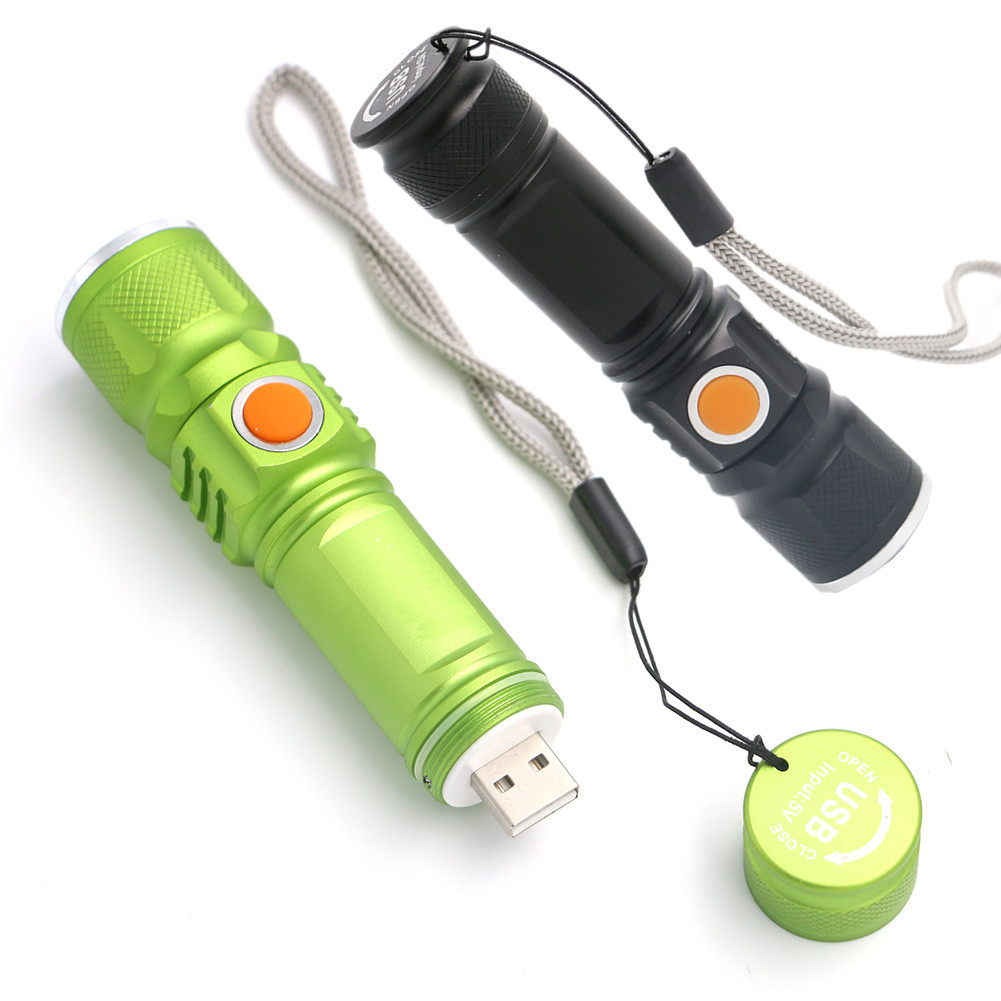 USB flashlight Built in Battery XM-L T6 LED Torch Rechargeable Waterproof Flash Light USB Torch Lamp Linternas with 18650 cree xm l t6 bicycle light 6000lumens bike light 7modes torch zoomable led flashlight 18650 battery charger bicycle clip