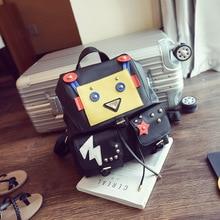 Смарт-Роскошные Бесплатная Доставка 2016 новый робот сумка мода цвет забавный маленький монстр рюкзак женский прилив