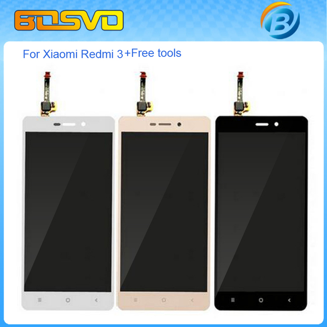 Brand new Replacement lcd display with touch screen digitizer For Xiaomi redmi 3 lcd assembly 1 piece free shipping+free tools