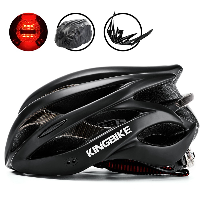 KINGBIKE Männer Frauen Ultraleicht Fahrrad Helme Radfahren Helme Integral geformten Sicherheit Zurück Licht Helm MTB Fahrrad Casco ciclismo