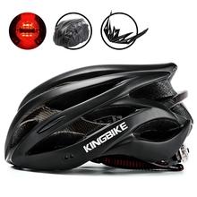 KINGBIKE mężczyźni kobiety Ultralight kaski rowerowe kolarstwo Helme integralnie formowane bezpieczeństwo tylne światło kask rower mtb Casco ciclismo tanie tanio Formowane integralnie kask 20 230g (Dorośli) mężczyzn J-629 cycling helmet bike helmet bicycle helmet capacete ciclismo Casco Bicicleta