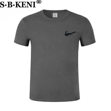 2018 New High quality brand men T shirt casual short sleeve Round collar fashion cotton t