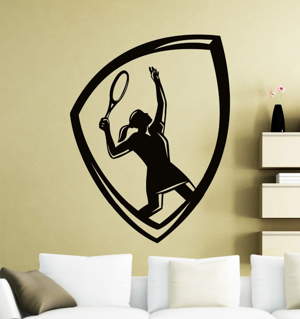 YOYOYU Wall Decal Vinyl Adesivi Murali Tennis Logo Decoration ...