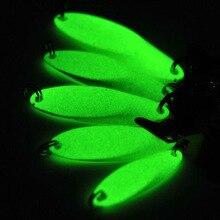 Metal Luminous Fishing Lures Artificial Bait Lure Treble Hook Baits Jig Wobbler Tackle 7g 10g 14g