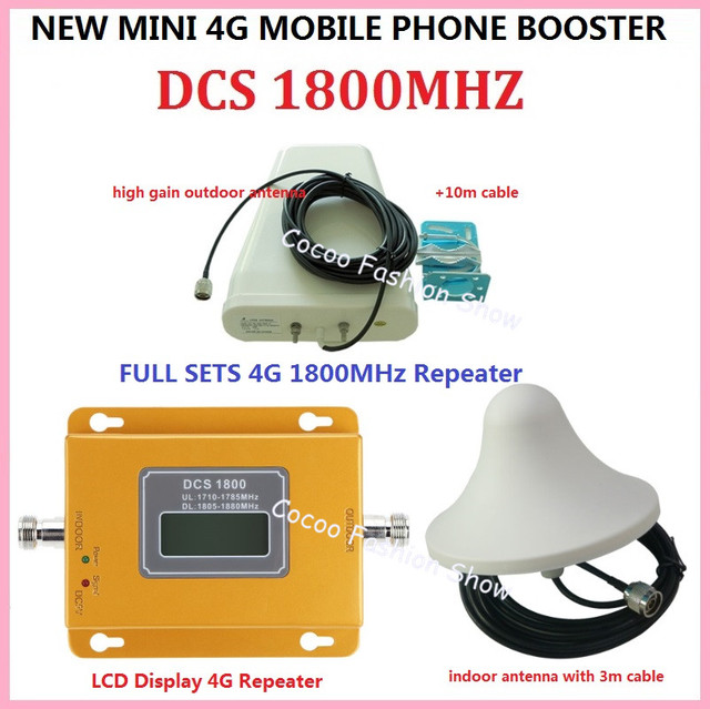 Conjunto completo FDD LTE GSM 4G Repetidor DCS 1800 MHz Celular Repetidor de Sinal Impulsionador DCS GSM1800 mhz Sinal de Celular Amplificador repetidor