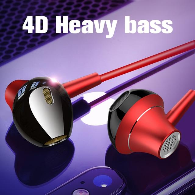 AZiMiYO Lai Pro HD Tai Tai Nghe Nhét Tai Áo Ngực Có Dây 4D Bass Nặng Kim Loại Năng Động Tai Nghe Chụp Tai Kèm Mic Dành Cho Xiaomi điện Thoại Huawei