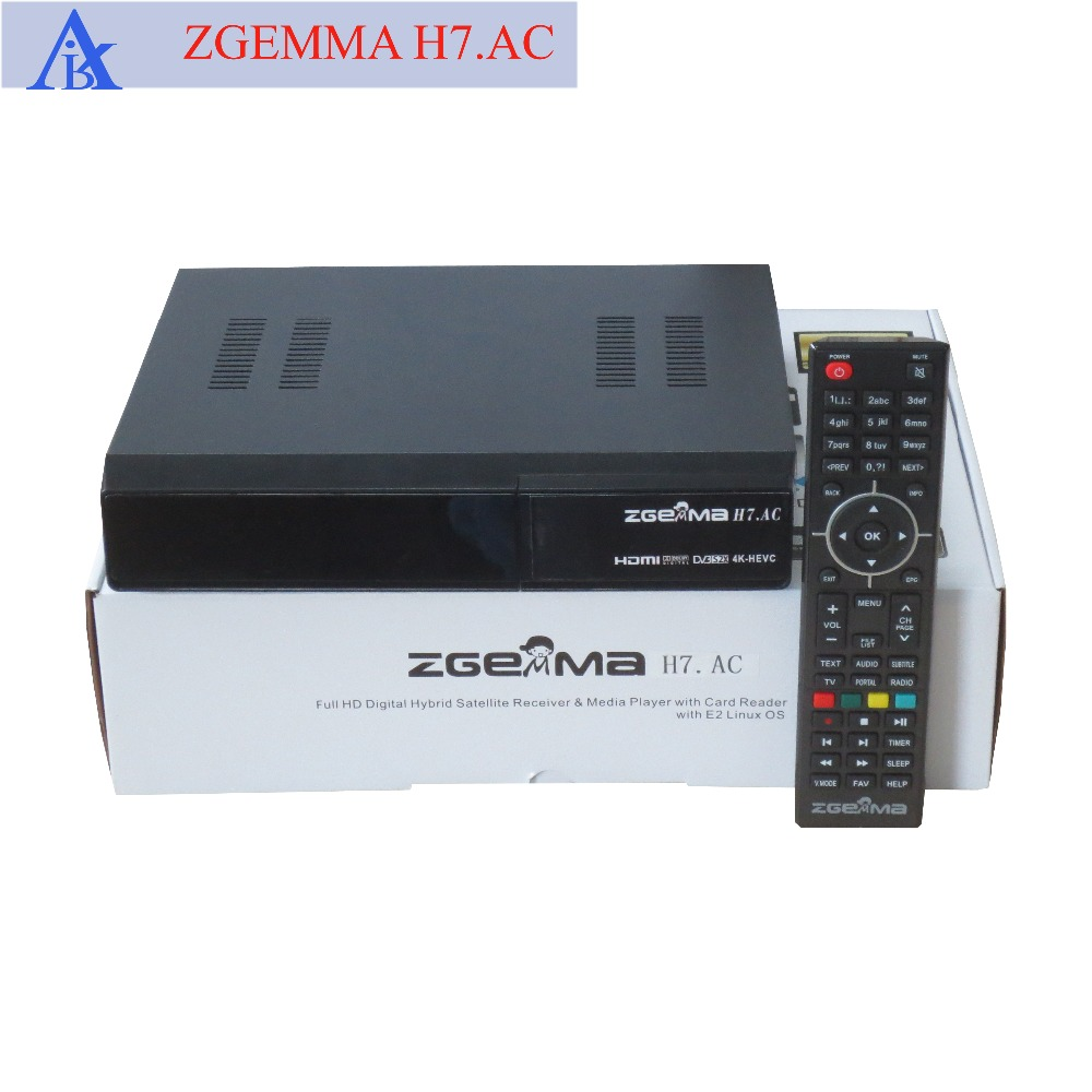 US $449 82 |2pcs/lot 4K UHD Satellite Receiver ZGEMMA H7 AC with 2*DVB S2X  + ATSC Three Tuners Linux HEVC Receiver For American Market-in Satellite TV