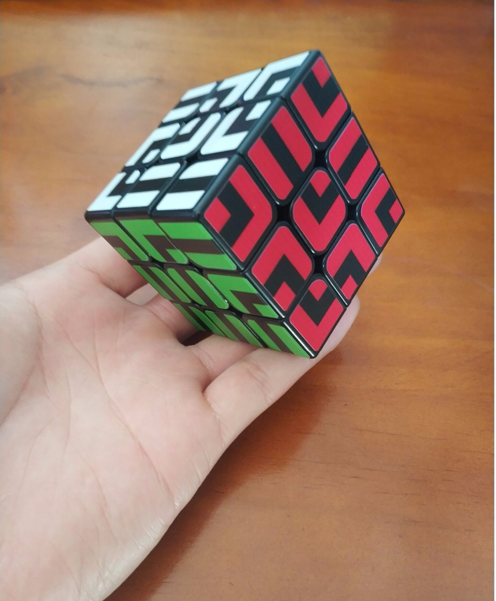 New Arrival ZCUBE Colorful Sticker 3x3x3 Cube 3x3 Speed Cube Professional 3 Player Triangle Shape Twist Educational Kid Toys