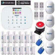 Kerui Pour Android IOS APP Contrôle Tactile Numérotation Automatique Accueil Cambrioleur Alarme Anti-Intrusion Système Accueil Capteur