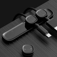 Baseus Peas Magnetic Cable Clip USB Cable Organizer Clamp Desktop Workstation Wire Cord Management Cable Winder Holder Portable
