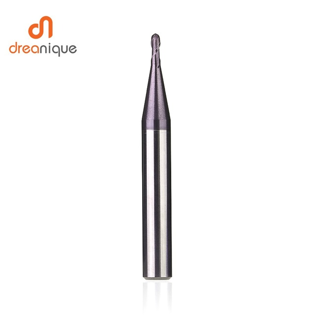 1pc ball nose end mill 2 flutes R0.5-R6.0 cnc end milling cutter for metal face and slot machining hrc50 coated end mills 4