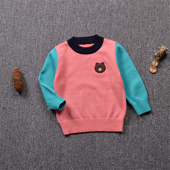 YorkZaler Girls Clothing 2017 Autumn Pullover Children knitting Sweaters Full Sleeve Patch Designs Outerwear Kids Knitwear