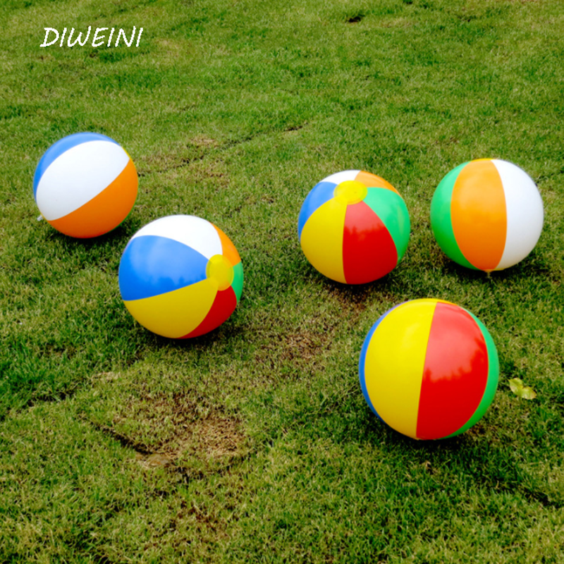 1 Pcs/set Colorful New Baby Kids Beach Pool Play Ball Inflatable Children Rubber Educational Soft Toys Learning