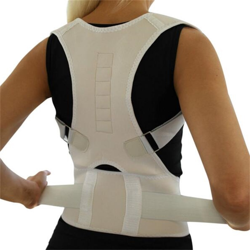 Medical Therapy Magnetic Lumber Back Posture Corrector Support Belt Brace Lower Back Pain Treatment Women Men Corsets Tourmaline