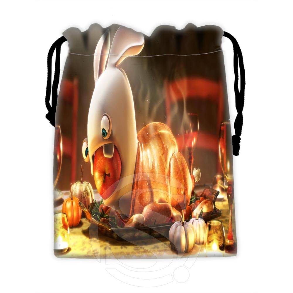 Unique Design Custom Raving Rabbids#3 Drawstring Bags For Mobile Phone Tablet PC Packaging Gift Bags18X22cm SQ00729-@H0620