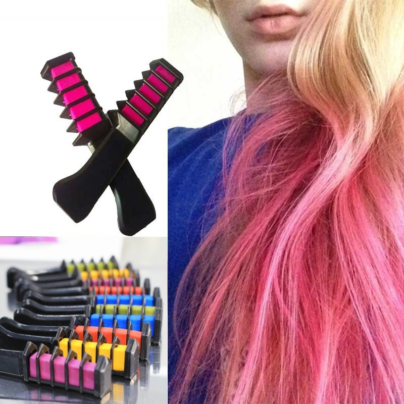 2017 New Semi Permanent Hair Color Chalk Powder with Comb High Quality Temporary Blue Hair Mascara Multicolor Dye image