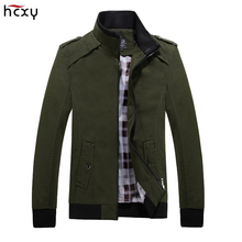 HCXY men's spring and autumn coat 2017 new solid color male jackets high quality comfortable fashion man casual jacket