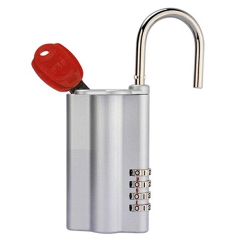 Zinc Alloy 4 Digit Password Combination Key Storage Box Security Lock Organizer Small Keyed Padlock