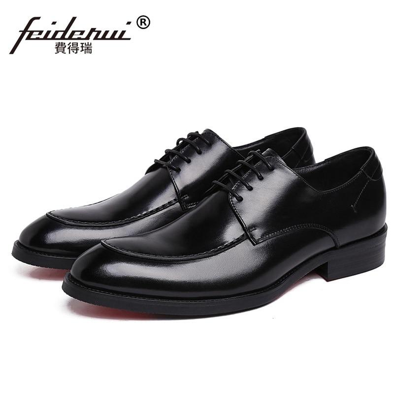Formal Man Handmade Bridal Dress Business Shoes Genuine Leather Wedding Oxfords Luxury Brand Round Toe Derby Men's Footwear XE63 разделочный нож nadoba rut 20 см